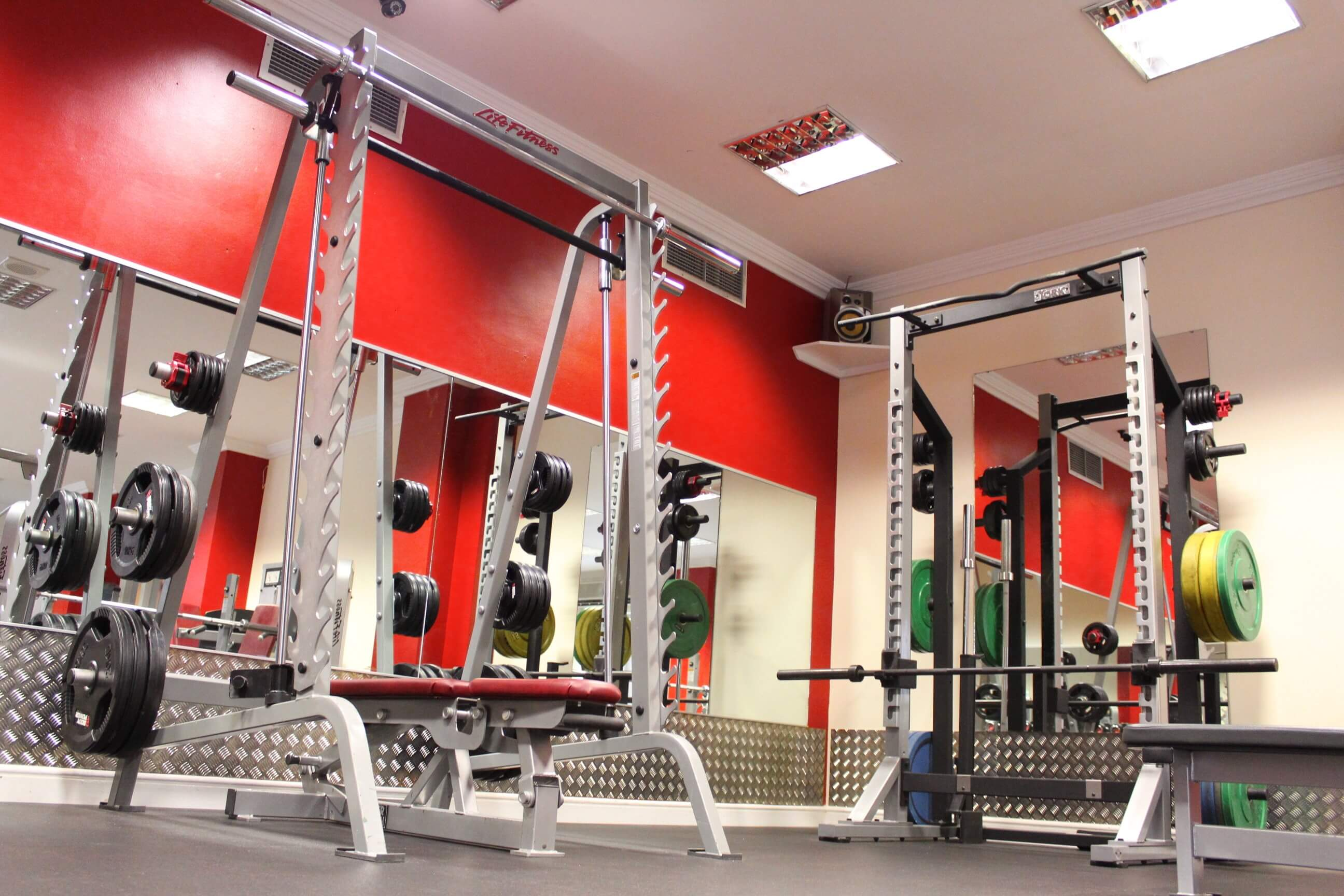 Picture of olympic bench press Smith Machine and squat rack with pull up bar